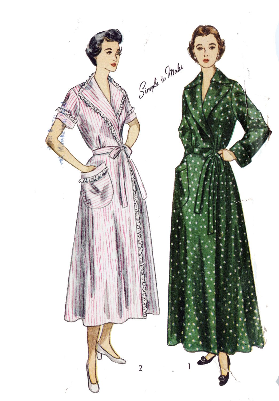 Simplicity 3072 Misses\' Vintage 1940s House Coat and Brunch Coat ...