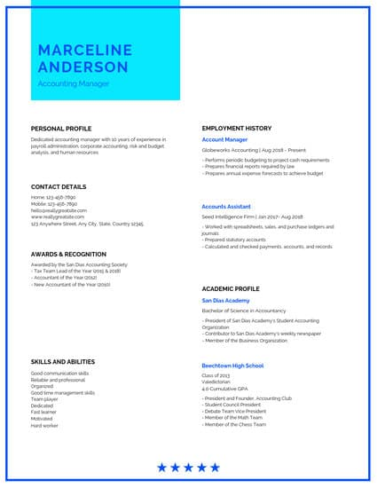 Blue Simple Professional Resume Templates by Canva (With