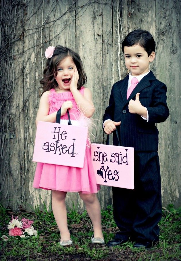 He asked and she said yes cute kids couple love cute babies and he asked and she said yes cute kids couple love thecheapjerseys Gallery