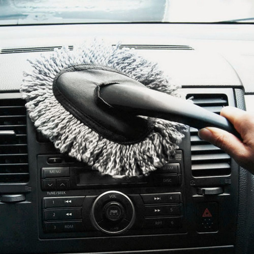 1pc Multi Functional Car Duster Cleaning Dirt Dust Clean Brush Dusting Tool Mop Gray Brush Cleaning Dust Car Car Cleaning