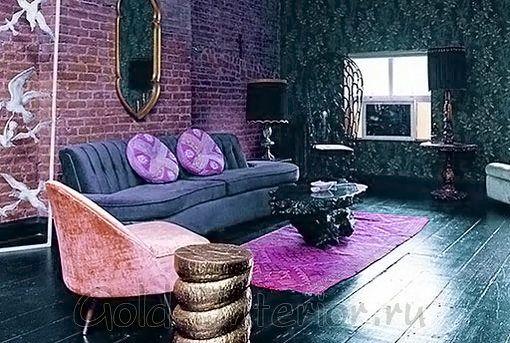Фиолетовый цвет в интерьере фото, PostRemont