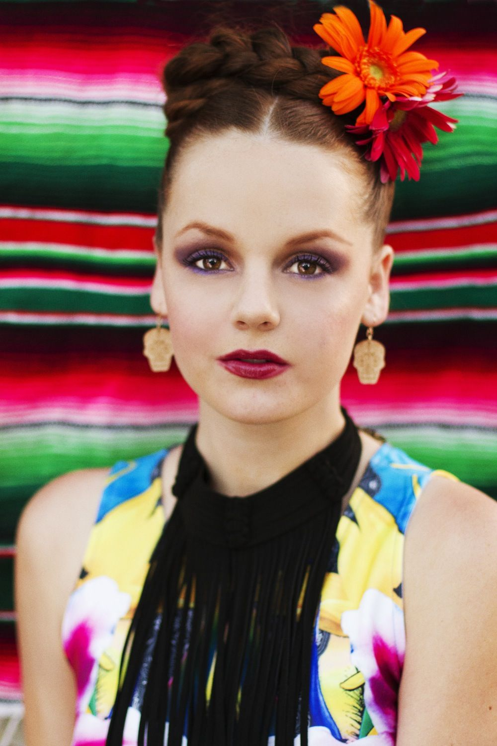 Cinco de mayo editorial spanish and mexican inspired fashion photo