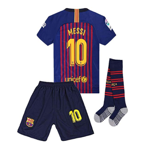 18 19 Home Barcelona  10 Messi Soccer Jersey Kids and Youth Color ... a1fce6047