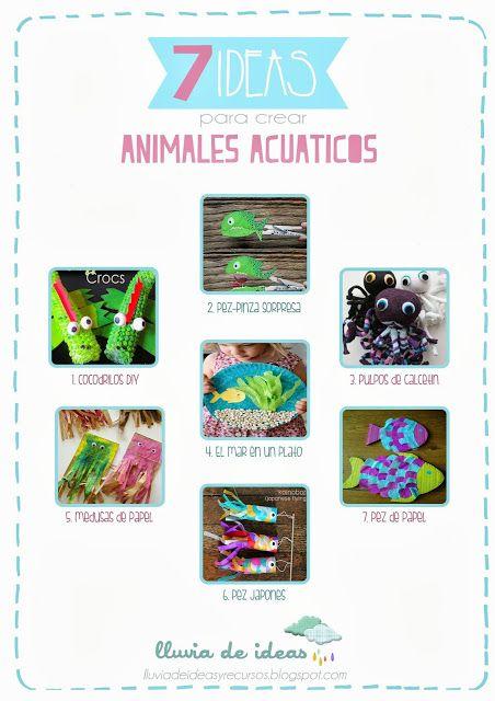 LLUVIA DE IDEAS: Recursos: Ideas para crear Animales marinos DIY ...