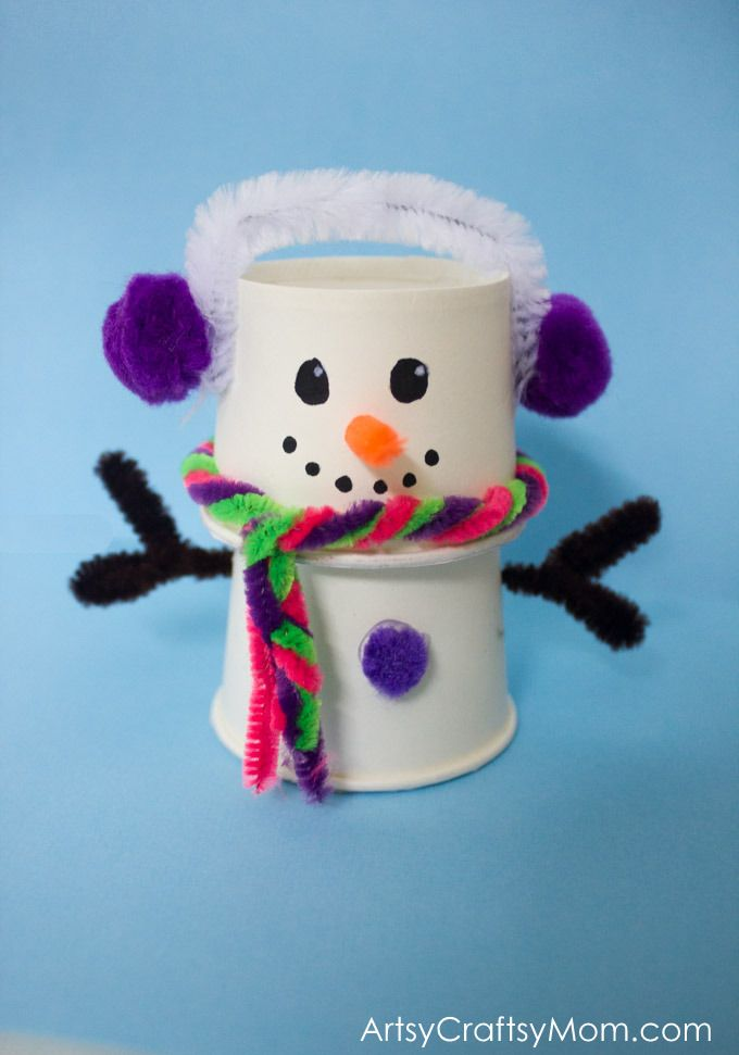 Absolutely Adorable Paper Cup Snowman Craft For Christmas Crafts