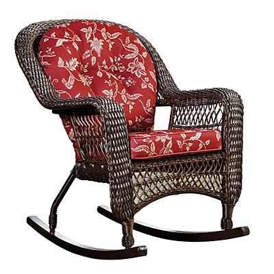 To Go On Deck Near Slider With Straight Wicker Chair. Wilson U0026 Fisher®  Savannah Resin Wicker Cushioned Rocker At Big Lots.