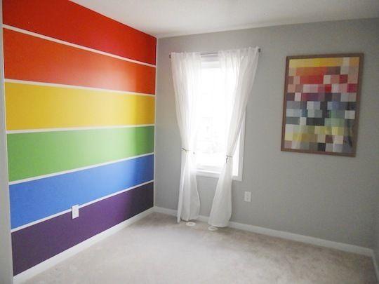 Molly\'s Rainbow Room | Rainbow wall, Paint chips and Rainbows
