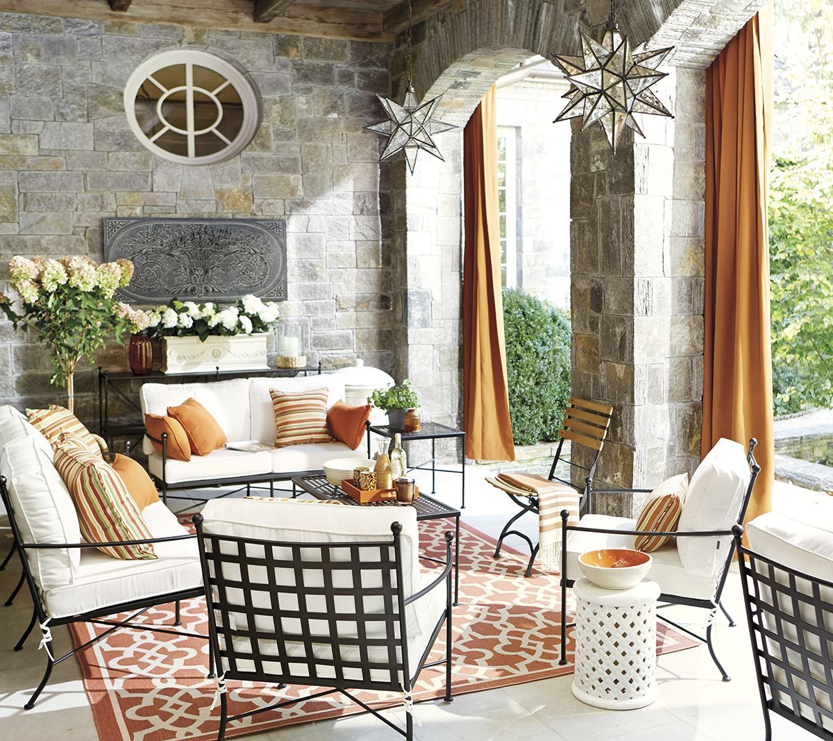 Garden Seating Ideas For Your Outdoor Living Room: Outdoor Spaces Decorating Ideas