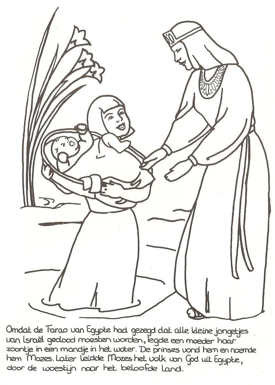 Mozes In Het Biezen Mandje Bijbel God Moses Baby Bible