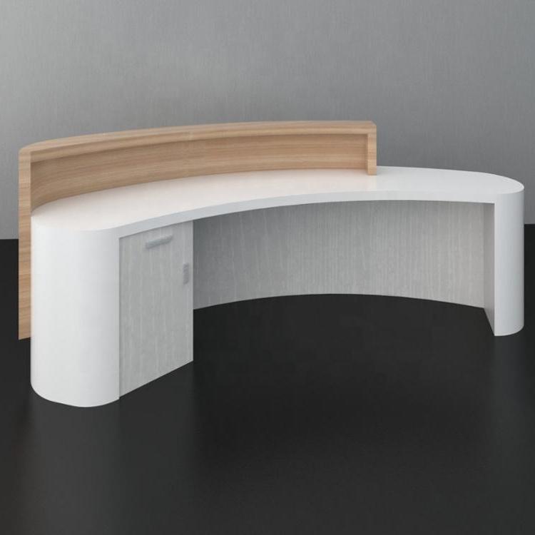 Hauteur De Comptoir Reception Rouge Et Blanc Bureau De Reception Incurve Reception Curved Reception Desk Dental Office Design Receptions Corner Reception Desk