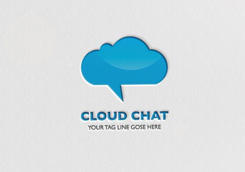 cloud chat logo. vector logo template for download