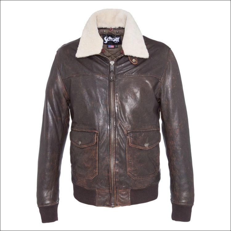 Ανδρικό δερμάτινο SCHOTT N.Y.C. Μοντέλο  flight jacket 3139 Δέρμα  brown  nappa vintage Τιμή  7b274292b08
