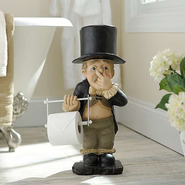 Stinky Butler Toilet Paper Holder Porte Essuie Tout Porte
