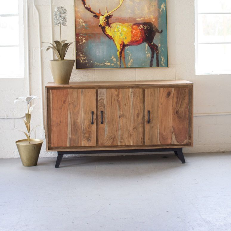 Genial Gain Storage Space And A Handsome Piece Of Rugged Furniture With This  Three Door Credenza