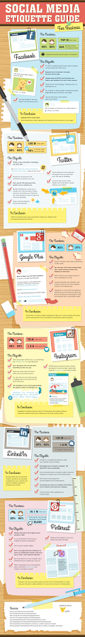The Social Media Etiquette Guide For Business [Infographic] #asharething #etiquette