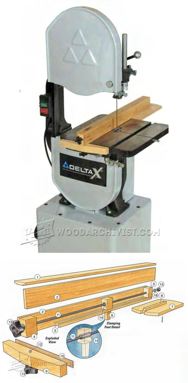 Band Saw Rip Fence Plans Band Saw Tips Jigs And Fixtures Woodarchivist Com Woodworking Shop Plans Woodworking Bandsaw