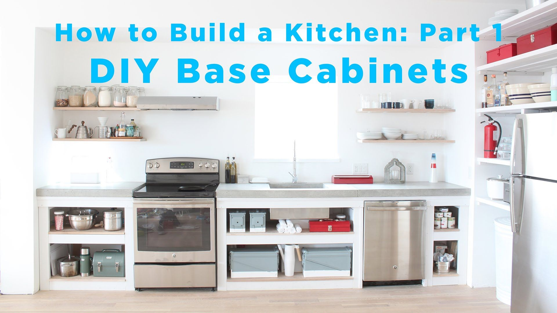 The Total Diy Kitchen Part Base Cabinets Youtube House Renovations