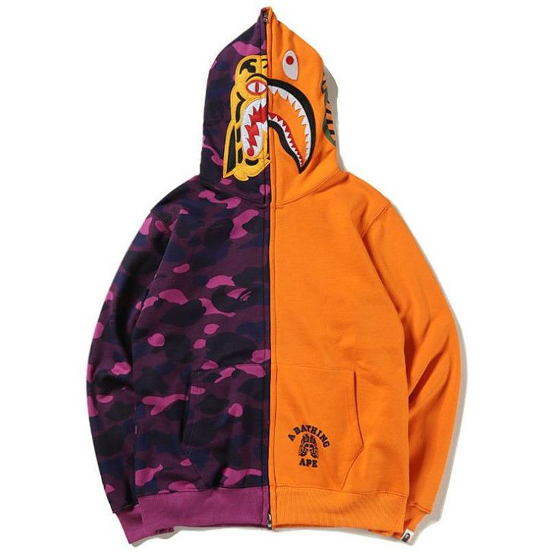 bc08a18e06cc A Bathing Ape Bape Splice Shark Jaw Full Zip Sweatshirt Jacket Camo Hoodie  Coat  fashion  clothing  shoes  accessories  mensclothing  activewear (ebay  link)