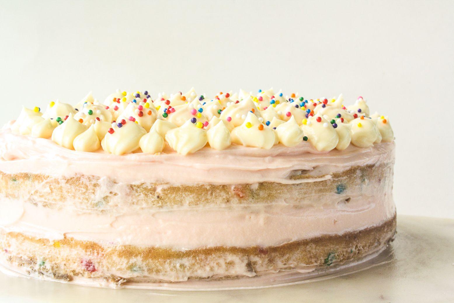 Funfetti cake with cream cheese frosting recipe in 2020