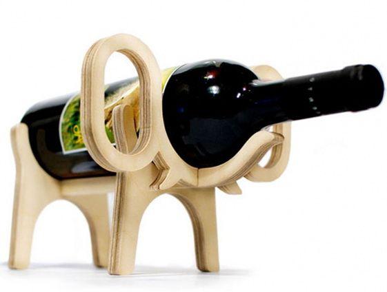 wine bottle and glass holder diy wall holders animal bone architecture elephant metal dog