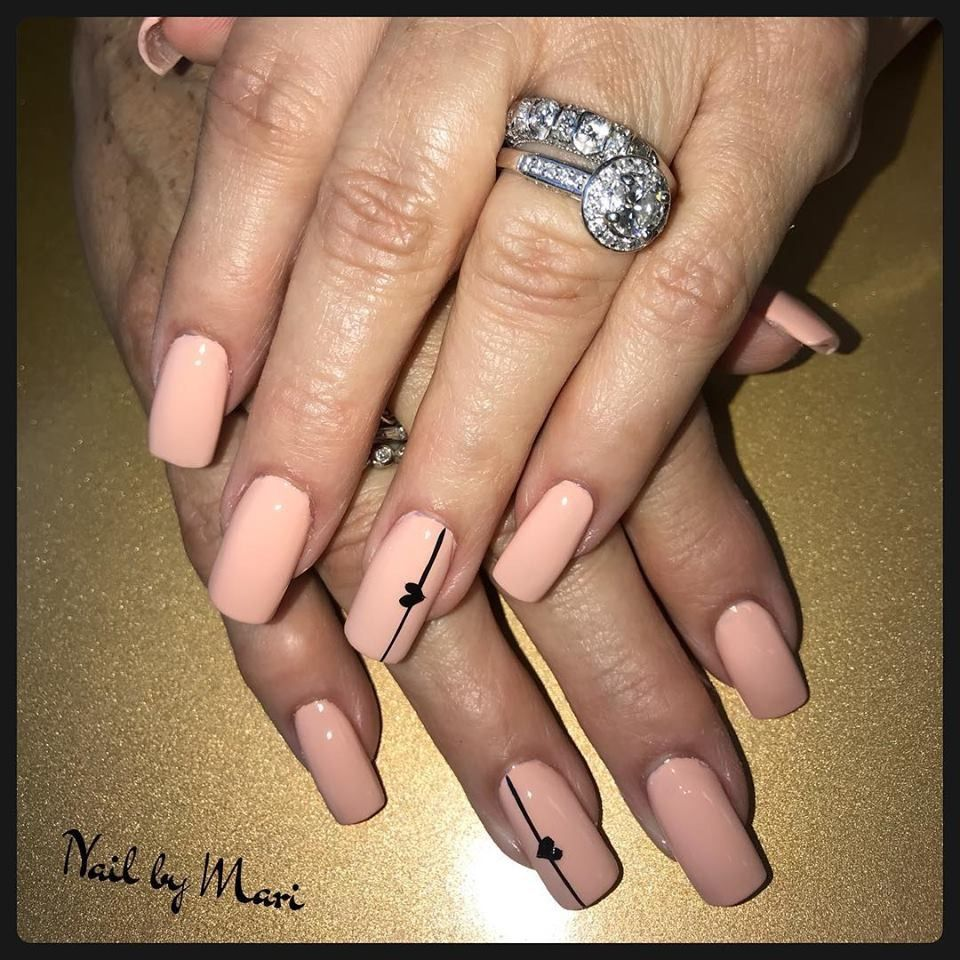 My Nude Nail Black Design Simple And Elegant Classy Nails Nails