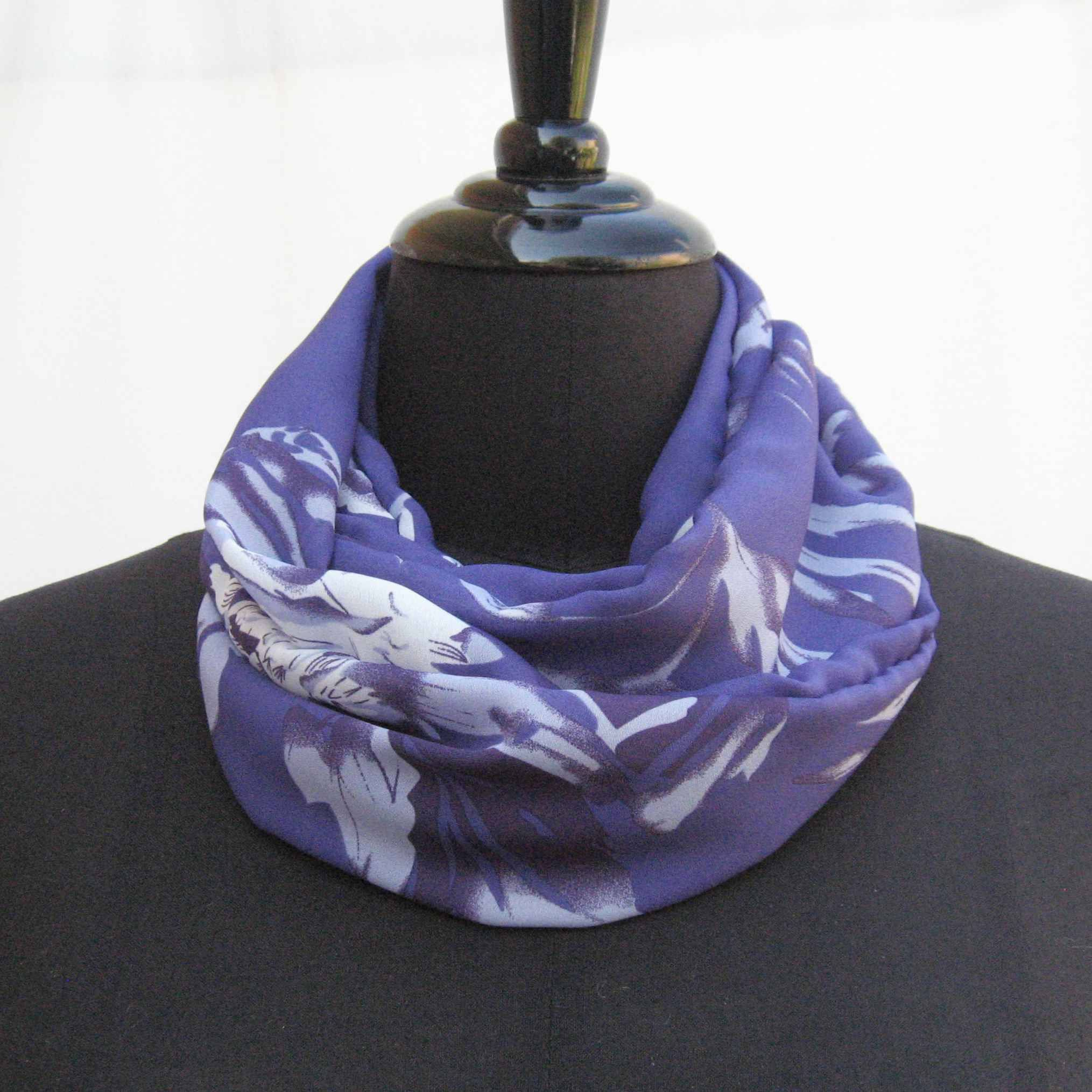 Purple Infinity scarf, purple scarf, circle scarf, boho