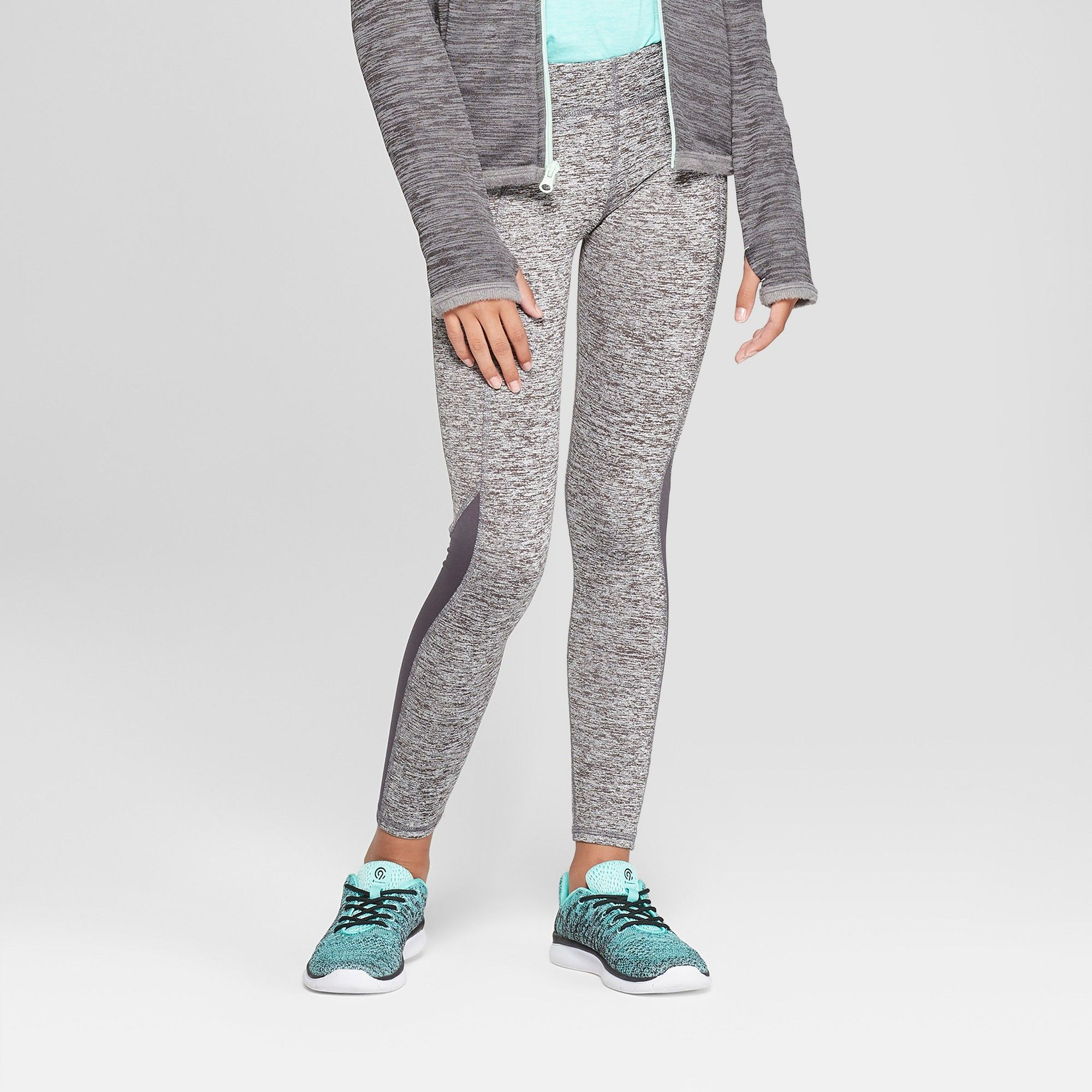 fb441190da91 Girls  Cozy Performance Leggings With Pockets - C9 Champion Heather Grey XS
