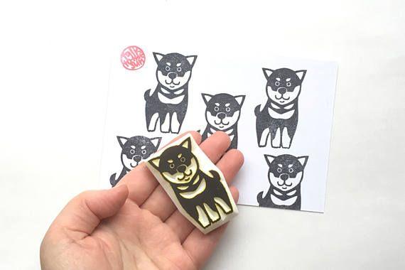 Shiba Inu Stempel japanische Hund Stempel TierStempel