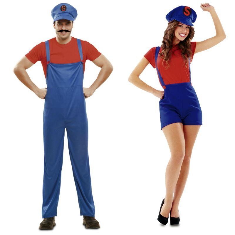 Pareja super marios parejas disfraces carnaval for Disfraces parejas adultos