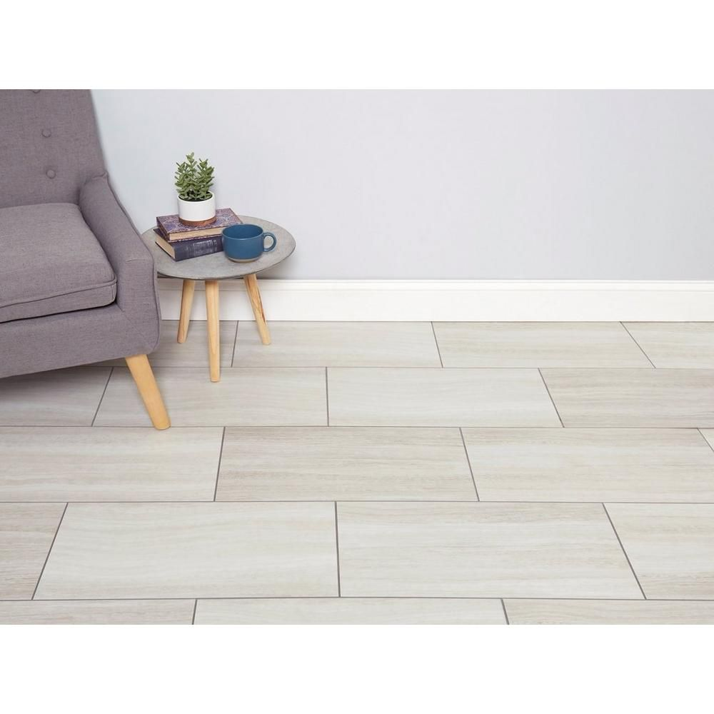 White Grouted Rigid Core Luxury Vinyl Tile - Cork Back ...