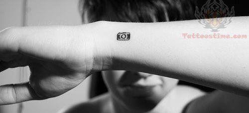 ae0f247d5 Tiny Camera Tattoo On Wrist   I'm SO gangster!   Camera tattoos ...