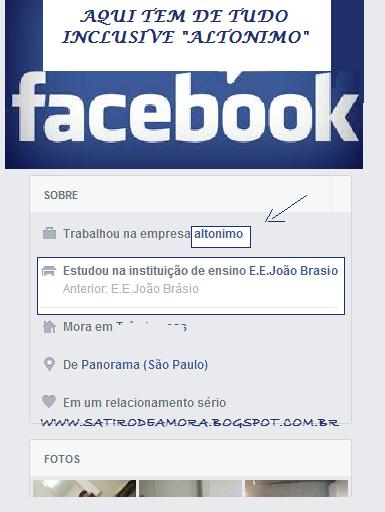 Sátiro de Amora: No facebook tem de tudo
