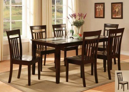 East West Furniture C7g Cap C Capri 7pc Set With Tempered Frosted Glass Top Table And 6 Microfi Kitchen Table Settings Dining Table In Kitchen Dining Room Sets
