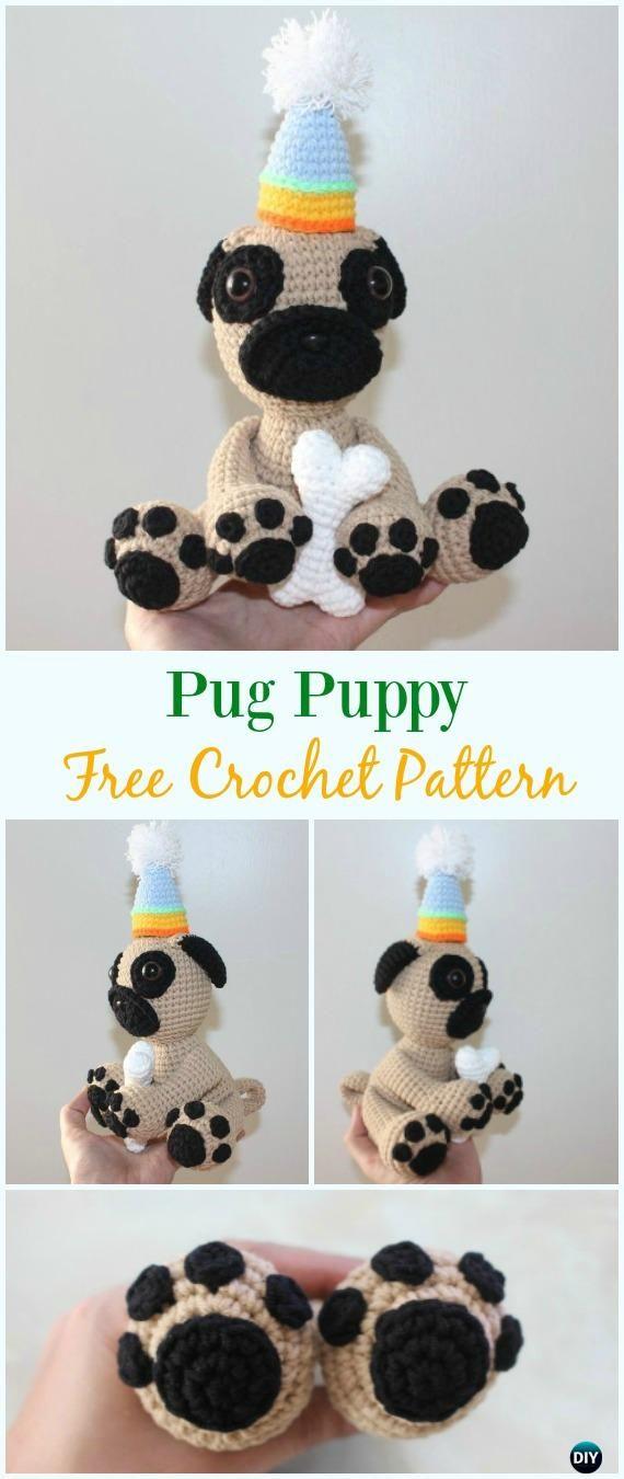 Crochet Pug Puppy Amigurumi Free Pattern - #Amigurumi Puppy #Dog ...