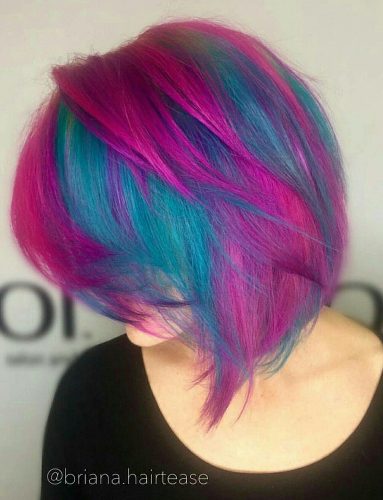 Pink Blue And Purple Hair Hair Dyed Hair Purple Pretty Hairstyles