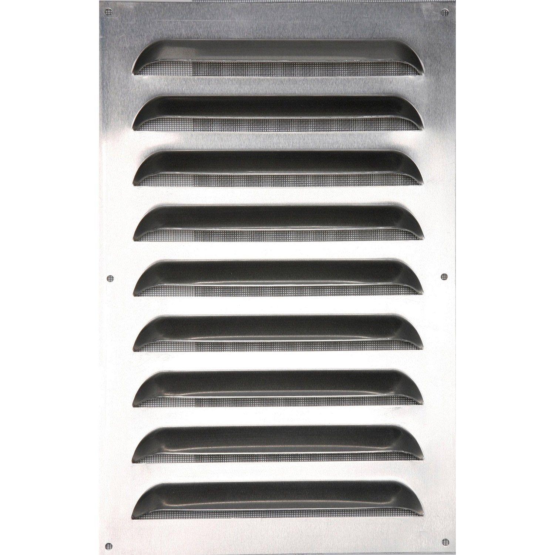 Grille D Aeration Aluminium Naturel L 25 X L 40 Cm Ferreteria Y Prensas Aeration Et Grille
