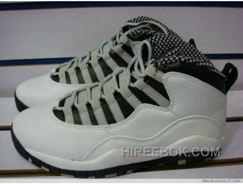 wholesale dealer 3c940 f8dfa AIR JORDAN RETRO 10 STEEL WHITE BLACK LIGHT STEEL GREY VARSITY R LASTEST  Only  68.00 , Free Shipping!
