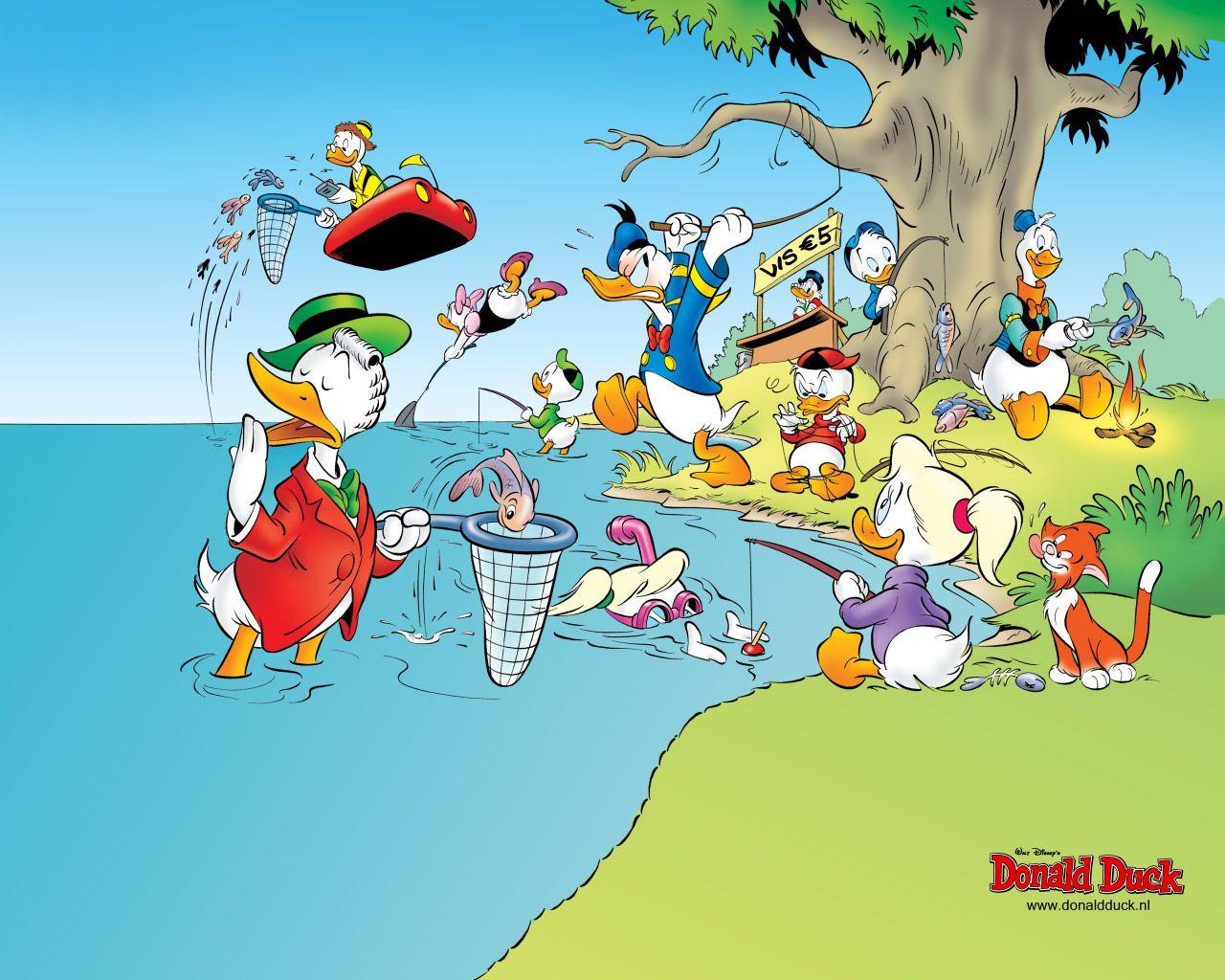 Versier je bureaublad met een wallpaper van Donald Duck!