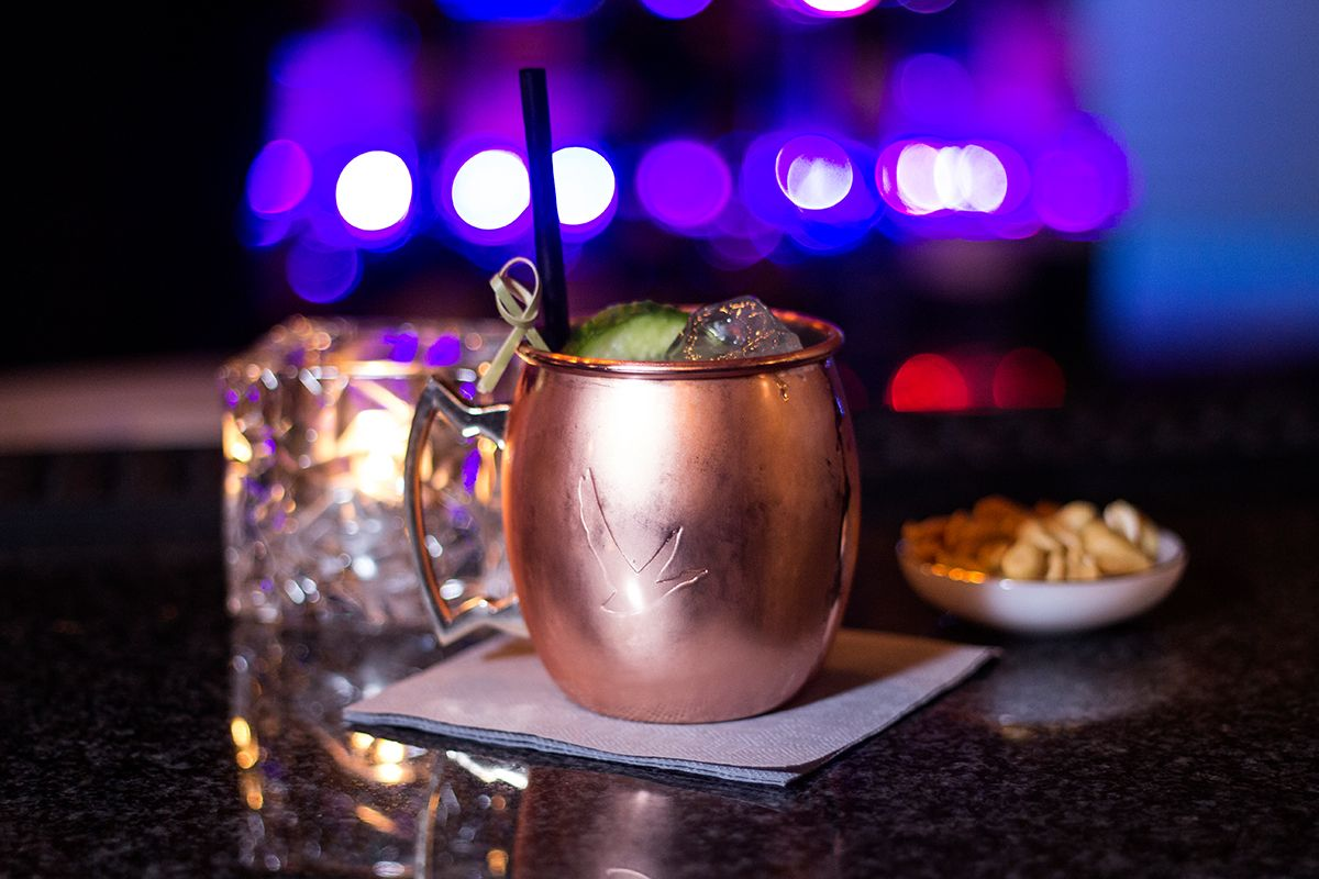 Kiel, Bar, moralist bar, moscow mule, Cocktails, Kupferbecher, Drinks