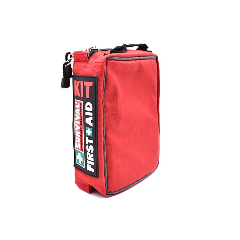Red First Aid Kit Bag Survial Camping Car Outdoor Medical Bag Empty First Aid Pouch Waterproof 3 Layer With Lables Oxford Clo Medical Bag Kit Bag Emergency Kit