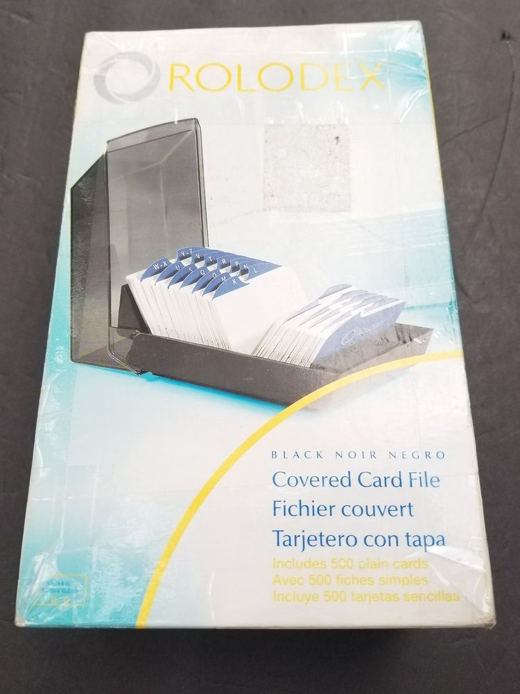 Rolodex 67011 Rolodex Covered Business Card File, 500 2-1/4 x 4 ...