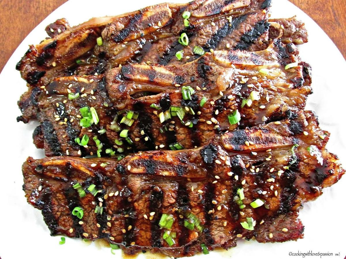 Roy S Grilled Korean Beef Short Ribs Recipe Beef Short Ribs Korean Beef Korean Beef Short Ribs