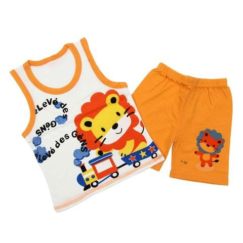 0486b0efc HOT SALE Baby Kids Clothes Set,Girls Boys T shirt+Pants Undershirt Shorts, Kids Pajama Set,Children T Shirts New-Lion Orange
