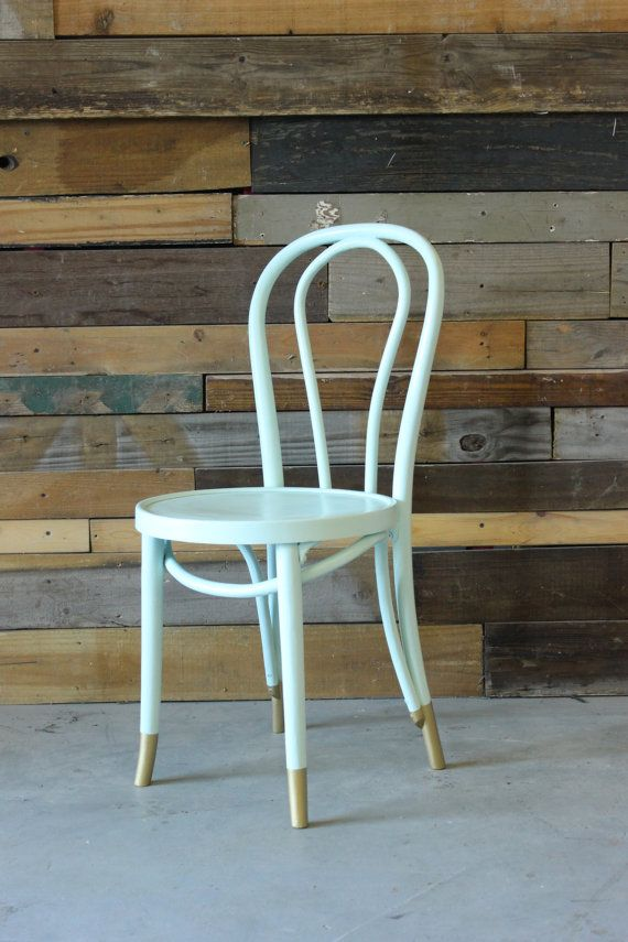 Free Shipping Thonet Style Vintage Bentwood Cafe Chair W Classic Rounded Back Color Inspiration From Serena Lily Mint Sillas Pintadas Sillas Retro Sillas