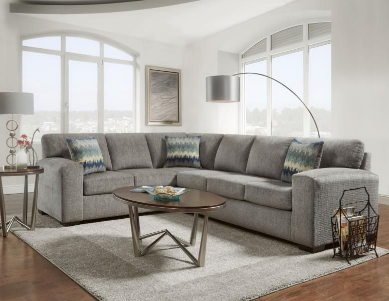 Exceptionnel Affordable Furniture Manufacturing, Inc. // Silverton Pewter Sectional // A  Transitional Silhouette For Todayu0027s Lifestyle, The Silverton Pewter  Sectional ...