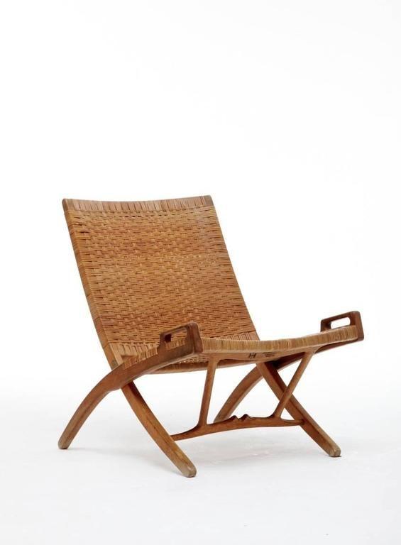 Hans Wegner JH-512 Folding Chair for Johannes Hansen, Denmark (free shipping) For Sale at 1stdibs