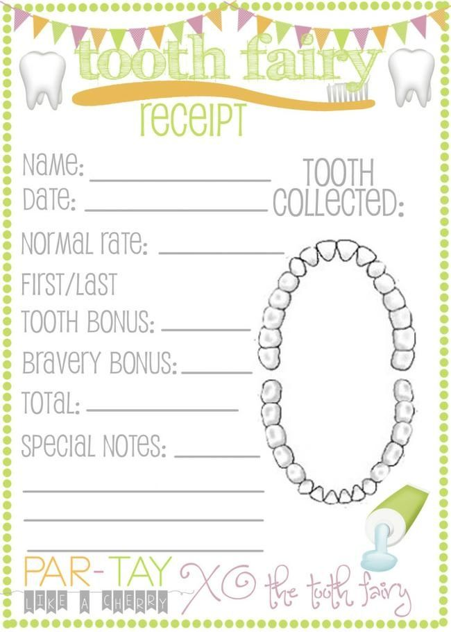 It is a photo of Monster Free Printable Tooth Fairy Receipt