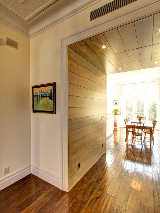 Interior Wood Paneling: Interior Ideas Modern Hallway With Ideas For Wood