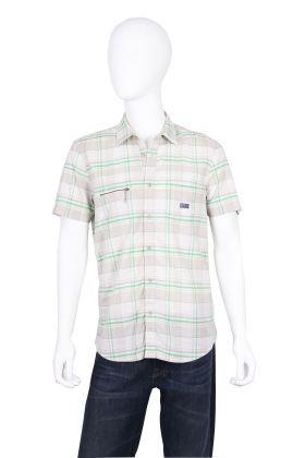 Camisa- Diesel- Masculino- Off White & Cinza