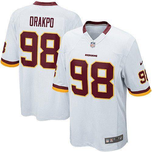 Nike NFL Game Mens Washington Redskins White http://#98 Brian Orakpo Jersey